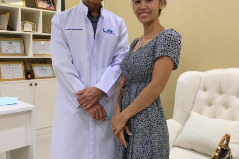 patient at Lyfe Medical Wellness with doctor at the clinic