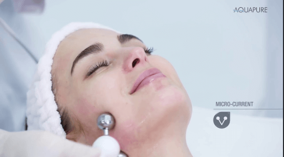 before and after facial aquapure by lyfe medical wellness